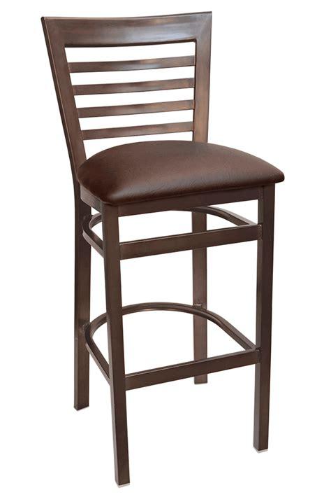gladiator rustic brown ladder back bar stool w choice of seat gladiator rust full ladder back bar stool w brown vinyl