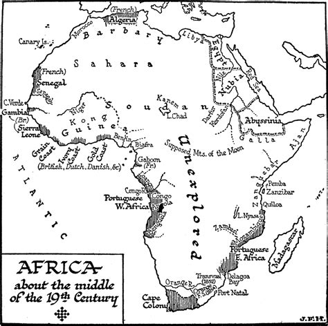 free africa map coloring pages