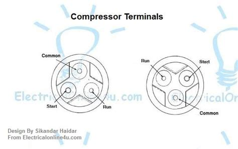 common start run diagram how to check compressor windings with multimeter
