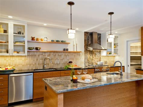 modern kitchen ideas no wall cabinets kitchen and decor