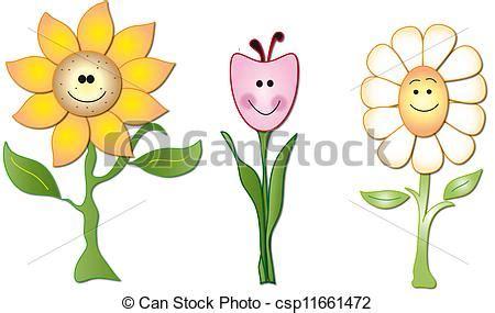 imagenes flores en caricatura stock de ilustraciones de flores caricatura csp11661472