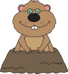 groundhog wearing glasses clip art animals