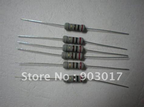 200 ohm resistor color aliexpress comprar pel 237 cula de carb 243 n resistencias fijas 200 ohm 1 w 5 50 unids de