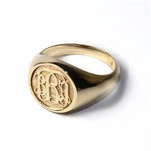 Mens Monogram Ring Women S Script Monogram Ring In 14k Gold By Sorellajewelry On Etsy
