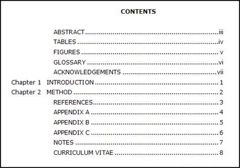 table of contents examples and format video lesson transcript