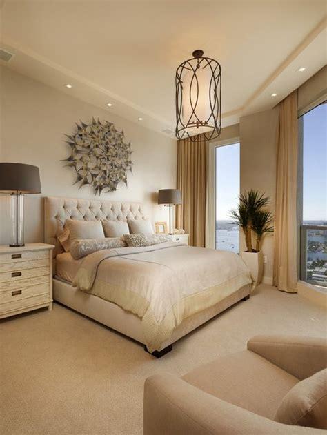 bedroom  beige walls design ideas remodel