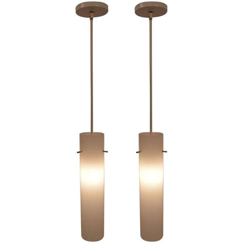Plastic Pendant Light Pair Of Plastic Cylinder Hanging Lights For Sale At 1stdibs
