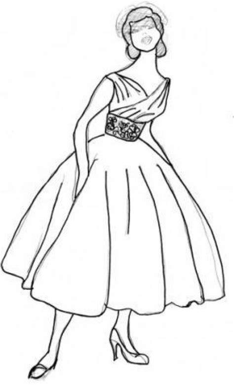 imagenes para colorear vestido vestido para dama colorear imagui