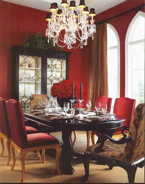 Red Dining Room Table by 25 Best Red Dining Rooms Images On Pinterest Big Round