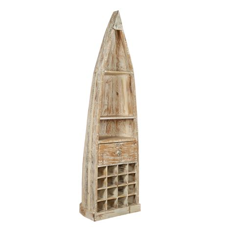 boat wine rack honolulu boat shaped rustic mango wood tall wine rack