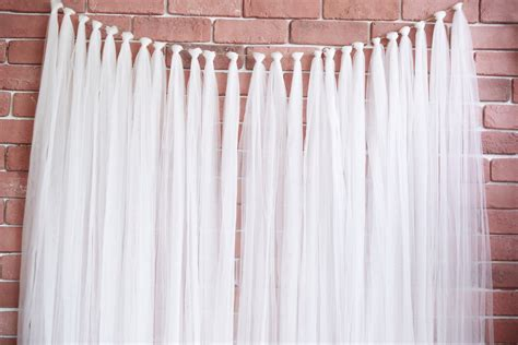 Backdrop Wedding by Tulle Garland Backdrop Merrylove Weddings