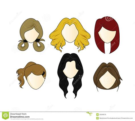 Girl Hairstyles Vector | girl hairstyles clipart 42
