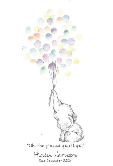 Elephant Baby Shower Balloons by Baby Elephant Holding A Bundle Of Balloons By