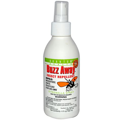quantum health buzz away insect repellent citronella spray 6 fl oz 180 ml iherb com