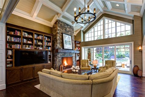 lighting for living room with high ceiling gallery and cathedral ceilings living room traditional with high