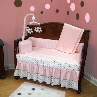 Baby Girl Room 4 Solid Pink And Brown Chocolate Baby Solid Brown Crib Bedding