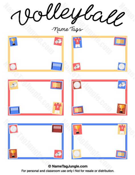 printable volleyball paper free printable volleyball name tags the template can also