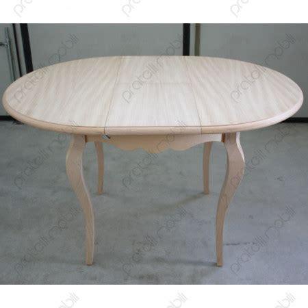 tavolo rotondo grezzo allungabile  gambe bombate