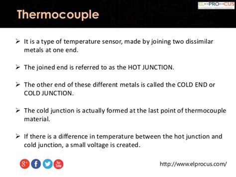 sensor type temperature sensors types