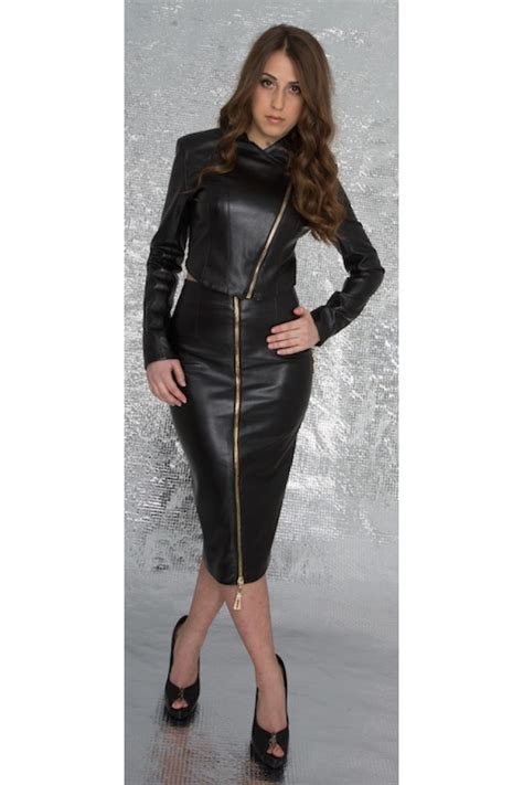 front zip leather skirt redskirtz