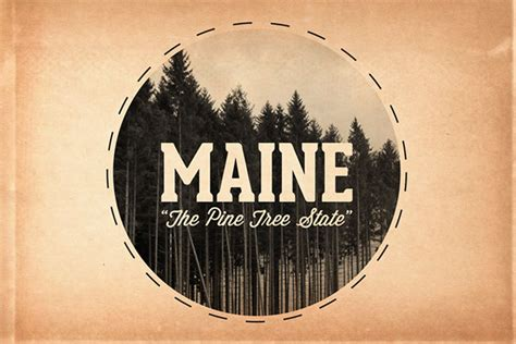 Maine The 23rd State by State Logos On Behance