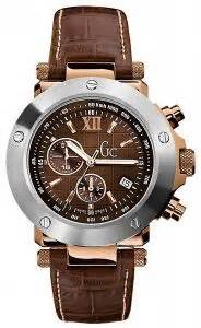 Guess Gc Chronoraph 6290 Leather guess gc swiss chocolete leather gold chronograph for g45003g1 price review and buy in