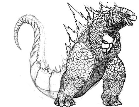 godzilla final wars pages coloring sketch coloring page