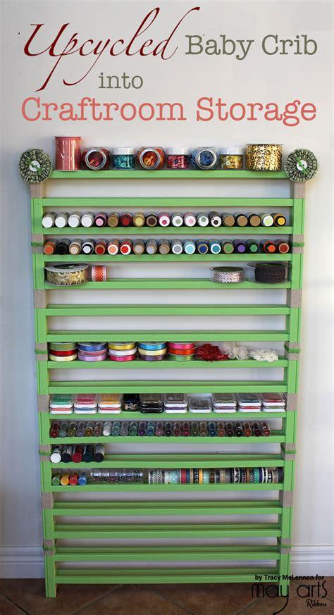 baby crib companies upcycled baby crib into craft room storage may arts