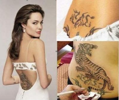 angelina jolie line tattoo angelina jolie bengal tiger tattoo inked ideas for