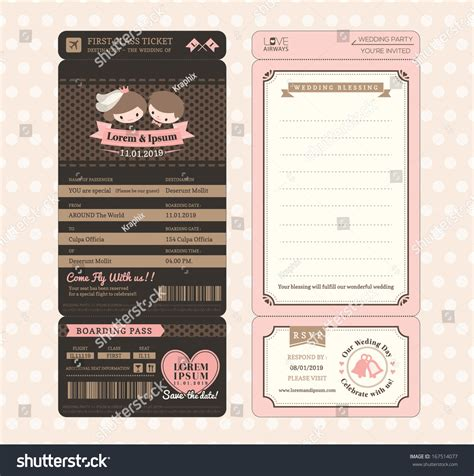 boarding pass design template groom vintage boarding pass stock vector