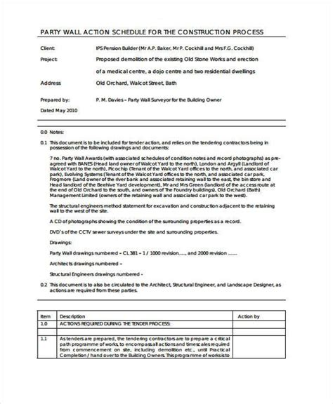 Sle Party Wall Agreement Forms 7 Free Documents In Word Pdf Wall Agreement Template Free