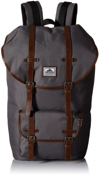 buy steve madden s solid utility backpack grey one size handbags uae souq