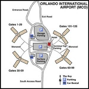 Orlando Terminal Map by Orlando International Airport Mco Terminal Maps Map Of