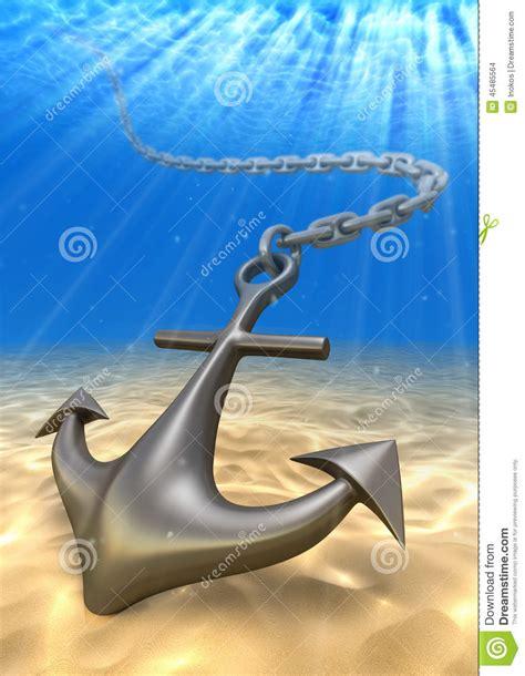 boat anchor underwater underwater anchor and volume light travel illustration