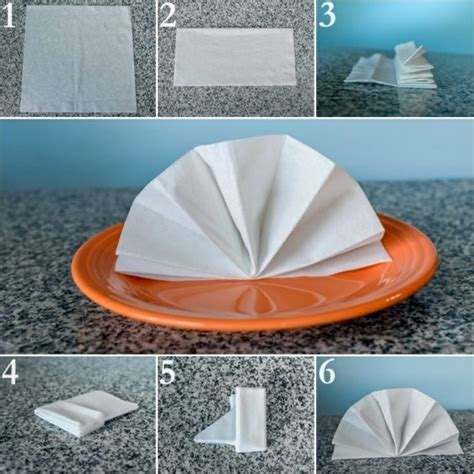 Easy Paper Napkin Folding - paper napkin folding create festive