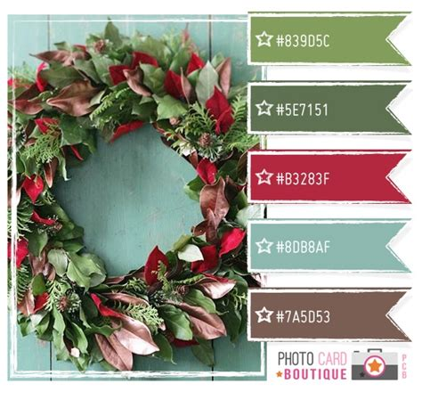 christmas color schemes greens cranberry and blue color palette color love