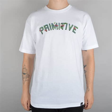 T Shirt Primitive Skateboard primitive apparel cherry berry skate t shirt white skate clothing from skate store uk
