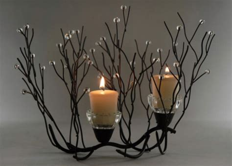 Twig Candle Holder Twig Candle Holder Centerpiece