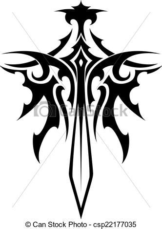 vectors of winged sharp sword tattoo winged sharp sword