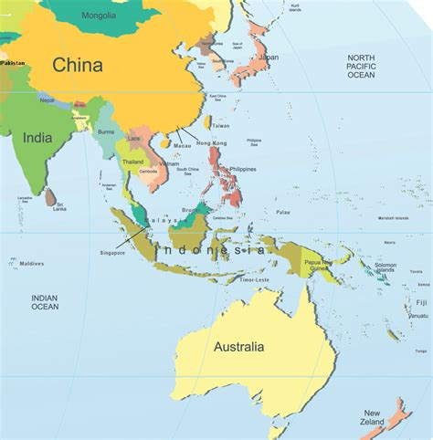 Asia Pacific Region Map Outline by Mlfoe Asia Pacific Geography Geography