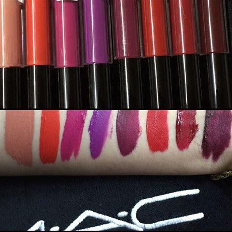Mac Liquid Lipstick mac retro matte liquid lipstick swatches from trendmood on