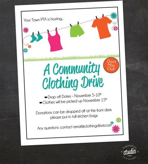 1000 images about clothes drive on pinterest flyer