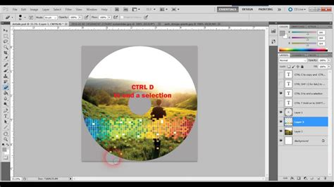 layout cover dvd photoshop how to create cd or dvd label design or cover with