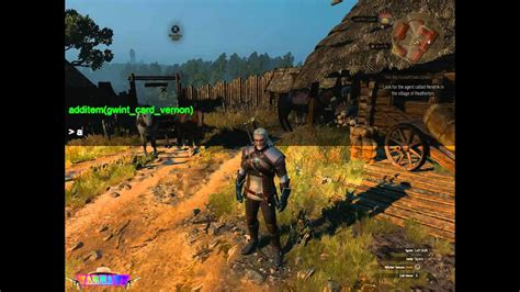 witcher 3 console the witcher 3 hunt debug console mod