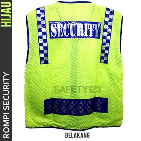Rompi Bagus jual rompi jaring satpam security vest bagus hijau stabilo murah safety123
