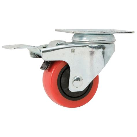 shop waxman 3 in polyolefin swivel caster at lowes