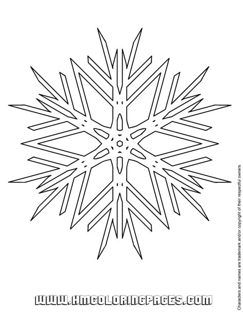 simple printable snowflakes easy snowflake coloring page free printable coloring