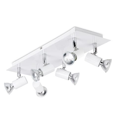 kitchen light fittings ceiling modern gloss white and chrome 6 way kitchen ceiling spot