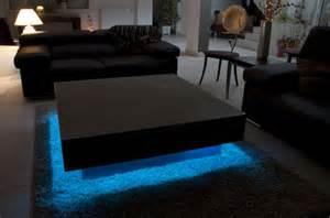 table basse lumineuse colibri decolupo mobilier design
