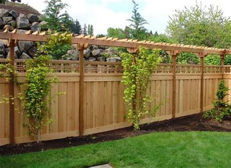 Fence Ideas For Backyard Backyard Fence Ideas Pictures Marceladick